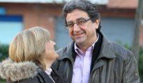 Enric Millo y su mujer, Montserrat Viñas, en Gerona.