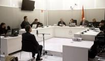 El exembajador de España en Finlandia Marcos Vega Gómez, durante su declaración en la Audiencia Nacional, donde hoy se le juzga por haber contratado en 2011 a tres empleadas domésticas de Filipinas y Kenia de manera ilegal y con dinero público, por lo que se enfrenta a una petición de 10 años de cárcel.