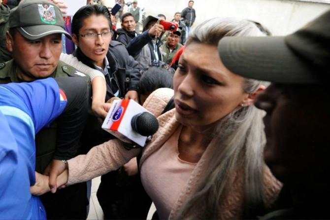 Gabriela Zapata, expareja del presidente boliviano Evo Morales, el 26 de febrero de 2016