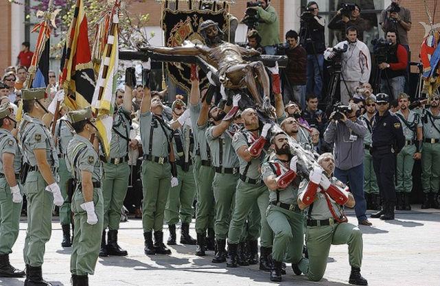 Legionarios en la Semana Santa de Málaga.