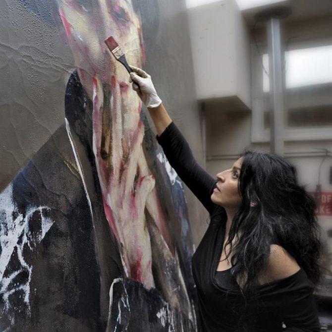 Imagen cedida por Opera Gallery de la pintora española Lita Cabellut.