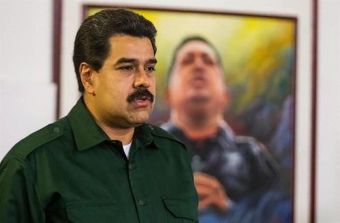 En la imagen un registro del presidente de Venezuela, Nicolás Maduro, que quien se ha afirmado podría tener doble nacionalidad.