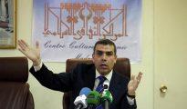 El director del Departamento Cultural del Centro Cultural Islámico de Madrid, Sami El Mushtawi, durante sus declaraciones en la rueda de prensa realizada hoy en Madrid