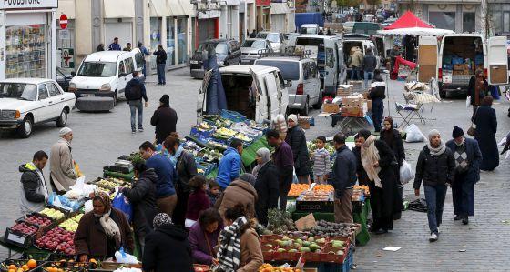 Una de las calles de Molenbeek (Bruselas)
