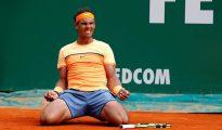 El tenista español Rafael Nadal en el Monte-Carlo Rolex Masters en Roquebrune Cap Martin.