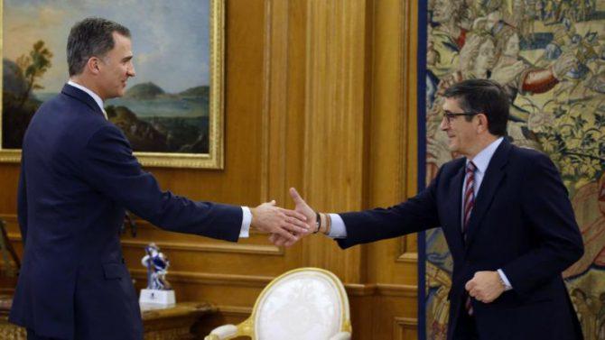Patxi López tras su encuentro con el Rey en el que se constató la falta de acuerdo