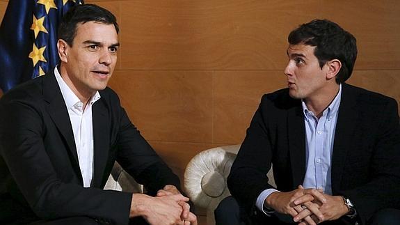 Sánchez y Rivera, en su encuentro del pasado 29 de marzo.