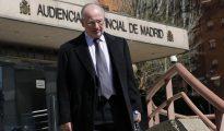 El exvicepresidente del Gobierno, expresidente del FMI y de Bankia, Rodrigo Rato, a su salida de la Audiencia Provincial de Madrid.