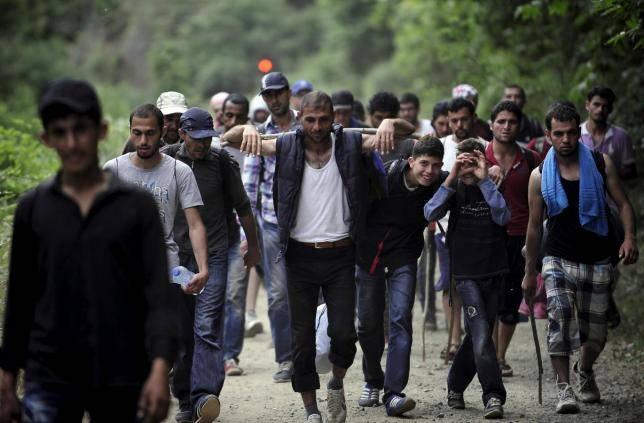 Refugiados en territorio búlgaro.