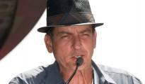 El actor estadounidense Charlie Sheen el 10 de julio de 2012 en Hollywood durante un homenaje al músico Slash (Saul Hudson)