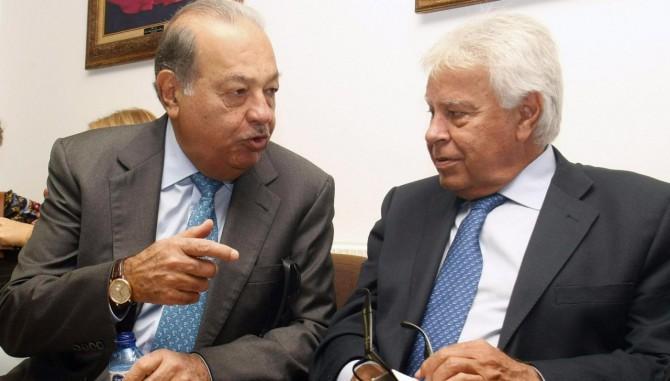 Carlos Slim y Felipe González