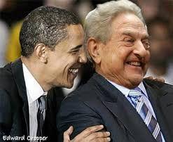 Obama junto a su jefe, el sionista George Soros.