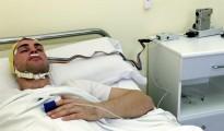 Un paciente en la Unidad del Sueño.