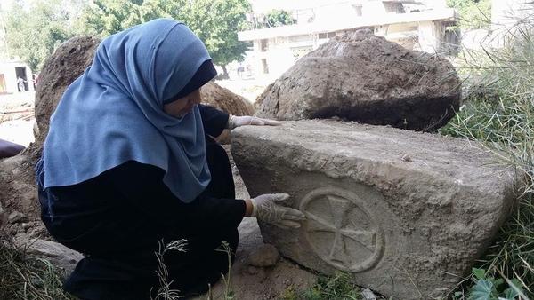 Hamás ha destruido las ruinas de un templo bizantino de 1.800 años de antigüedad recientemente descubierto en la ciudad de Gaza.