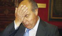 El alcalde de Granada, José Torres Hurtado, momentos antes de la rueda de prensa hoy tras su puesta en libertad.