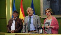 Los representantes del tripartito municipal ovetense