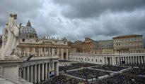 Vista general de la Plaza San Pedro en el Vaticano el 24 de abril de 2016