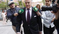 El extesorero del PP Luis Bárcenas, a su llegada a los Juzgado de Instrucción número 5 en Plaza de Castilla.