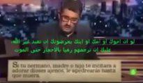 Fotograma del vídeo de Andreu Buenafuente distribuido por islamistas para atacar al cristianismo.