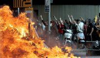 Disturbios en Barcelona.