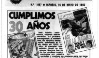 """Portada del emanario de sucesos """"El Caso"""", cuando cumplió 30 años de su publicación."""