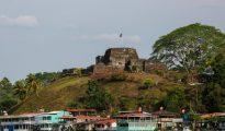 Vista parcial de la fortaleza El Castillo sobre el río San Juan, a unos 350 km de Managua.
