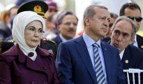 Erdogan y su esposa.