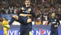 Griezmann celebra un gol contra el Barça en Champions.
