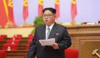 El líder norcoreano, Kim Jong-un, durante el séptimo Congreso del Partido de los Trabajadores de Corea del Norte (WPK), el primero desde 1980, en Pyongyang.