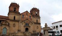 Fotografía tomada el pasado 30 de abril en la que se registró la Basílica y Convento de Nuestra Señora de Monguí, en Boyacá (Colombia).