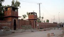 Vista del exterior de la cárcel de Pesahwar donde se encuentra encarcelado el doctor Shakil Afridi.