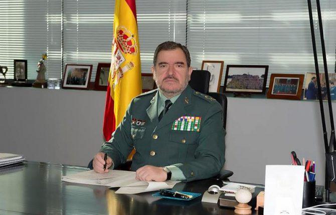 Fotografía facilitada por la Guardia Civil, del general jefe del Servicio de Información de la Guardia Civil, Pablo Salas