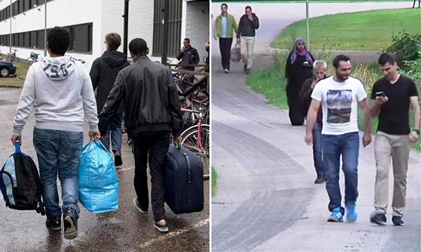 Los solicitantes de asilo en Suecia en la ciudad de Kalmar, de donde fueron obligados a salir refugiados cristianos, siendo intimidados y maltratados por musulmanes.