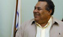 Fotografía del expresidente del Comité Olímpico de Nicaragua, Julio Rocha, durante una rueda de prensa en La Habana (Cuba).