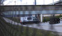 Un furgón de la Guardia Civil llega a Soto del Real.