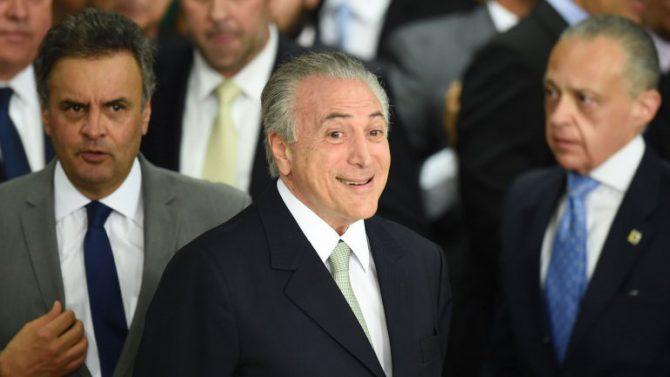 Michel Temer asumió la presidencia en lugar de Dilma.