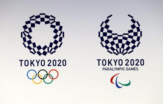 El logotipo de los Juegos Olímpicos y Paralímpicos de Tokio 2020.