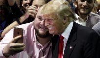 Donald Trump tras uno de sus mítines.