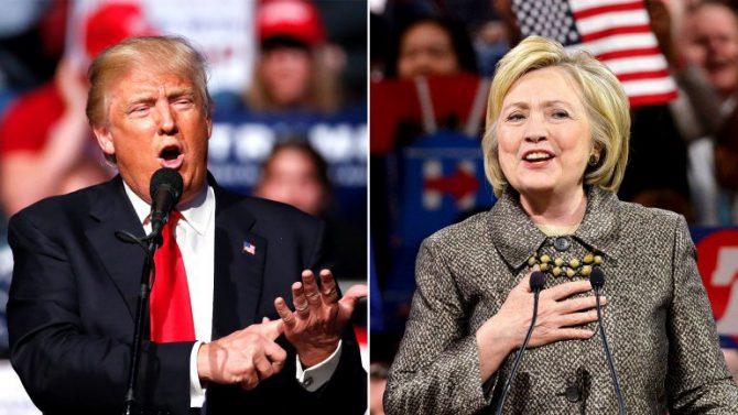 Trump y Clinton.