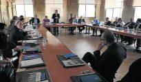 Los rectores y representantes de las universidades católicas, durante su reunión en la Pontificia de Salamanca.