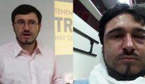 Jorge Garrido, antes y después de la agresión.