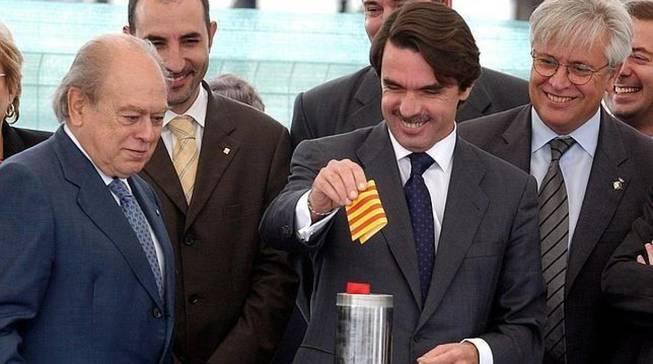 Pujol y Aznar en la época de la alianza PP/CiU.