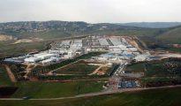 Vista aérea de la base española Miguel de Cervantes en Marjayún, en el sur de Líbano.