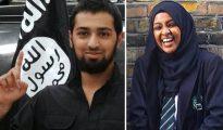 """Talha Asmal (izquierda), de 17 años y procedente de Dewsbury, se cree que se convirtió en el terrorista suicida más joven cuando se hizo volar ante una refinería iraquí. Sus amigos lo describieron como """"un chaval normal y corriente de Yorkshire"""". Amira Abase (derecha), de 15 años, viajó desde Londres a Siria en febrero para unirse al Estado Islámico como 'brigadista de la yihad'."""