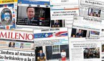Portadas de algunos diarios en el mundo.