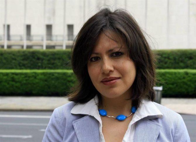 """En la imagen, la directora de Amnistía Internacional para las Américas, la mexicana Erika Guevara-Rosas, quien afirmó que """"si no se pone un freno a esta situación que está en deterioro constante (...) las condiciones están dadas para una conflictividad que pueda llevar a una situación lamentable""""."""