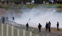 Imagen de los disturbios cerca del campo de refugiados de Calais.