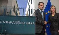 Bajo la legislación palestina, los funcionarios de la UNRWA gozan de inmunidad judicial, y sus conexiones con Hamás mantendrán en sus posiciones de poder y fuera de la cárcel a los oficiales implicados en acoso sexual. En la imagen, a la derecha, Pierre Krähenbühl, comisionado general de la UNRWA, en un encuentro con Federica Mogherini, alta representante de la UE para la Política Exterior.