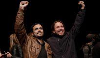 Alberto Garzon y Pablo Iglesias