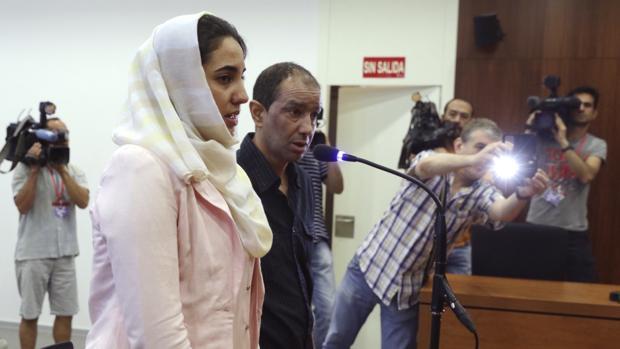 Ikram Benhaddi, durante el juicio en la Audiencia Provincial de Zaragoza